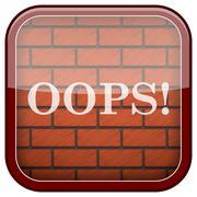 Stock Illustration of bricks wall icon