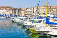 Stock Photo of old port in marseilles, france