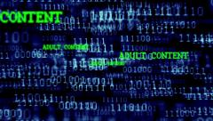 Binary Code 001 - B - Adult Content - 24 fps Stock Footage