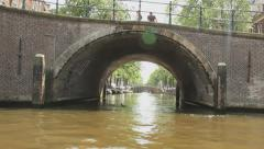 Tour through the Amsterdam Canals, Nine bridges Stock Footage
