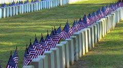 Military hautoja lipuilla näkyvissä Arkistovideo