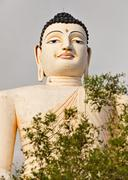 Sri lankas landmark - large buddha statue in bentota Stock Photos