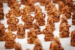 Souvenir figures of gods in the indian market Stock Photos