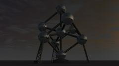 Atomium - stock footage
