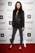 .maxim and ubisoft celebrate the launch of 'assassin's creed ii' .held at voy - stock photo