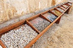 Travel photos of israel - good samaritan byzantine church Stock Photos