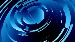 Blue Circular Bands :: Modern Tech Background Stock Footage