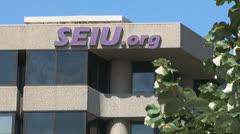 SEIU union headquarters in Washington, D.C. Stock Footage