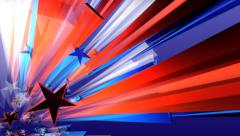 Red White Blue Star Background Stock Footage