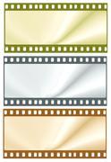35mm film frames - stock illustration