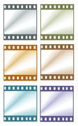 color film frames - stock illustration