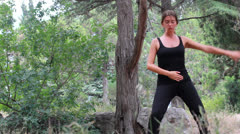 Qigong girl Stock Footage