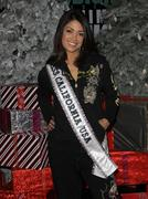 Stock Photo of miss california usa 2010 nicole johnson visits the ed hardy outlet.