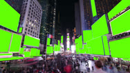 Stock Video Footage of Time lapse of crowds and billboards at Times Square, New York. With Chroma key.