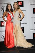 Stock Photo of nicole johnson, miss california 2010 and tami farrell miss california usa 200