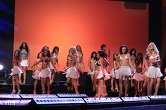Stock Photo of contestants.miss california 2010 pageant preliminaries day1.held at agua cali
