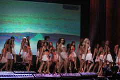 contestants.miss california 2010 pageant preliminaries day1.held at agua cali - stock photo