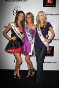 Stock Photo of miss california teen usa 2009 chelsea gilligan, miss usa kristen dalton and g