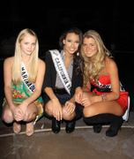 Stock Photo of miss marina del rey greer grammer, miss teen ca usa chelsea gilligan and miss