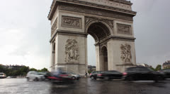 Arc de Triomphe Paris time lapse Stock Footage