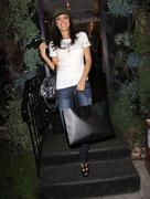 miss california usa 2010 nicole johnson last minute xmas shopping. - stock photo