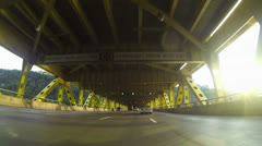 Fort Pitt Bridge and Tunnel Driving 2K Stock Footage