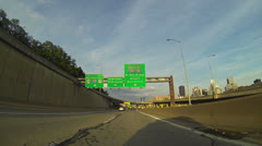 Pittsburgh City Driving 2K - stock footage
