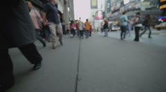 Journey through a New York City street from a pedestrian's point of view Stock Footage