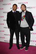 Pharrell williams and takashi murakami.moca new 30th anniversary gala.held at Stock Photos