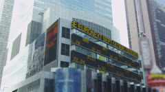 Stock market ticker at the New York Stock Exchange. - stock footage