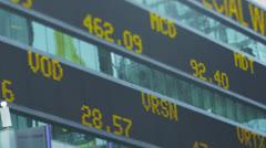 Pörssi ticker New Yorkin pörssissä. Arkistovideo
