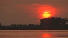 Close up sunset on river Stock Footage