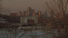 City Sunset, time lapse, KC. Stock Footage