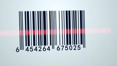 603 Barcode Scanner 001 A HD - stock footage