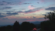 Stock Video Footage of Magnificent picturesque places in sunset.Timelapse