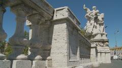Roman statues, Rome (slomo dolly) Stock Footage