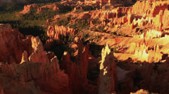 Bryce Canyon Sunrise 07 Hoodoos at Sunrise Point Stock Footage