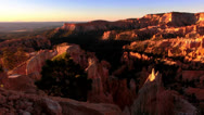 Stock Video Footage of Bryce Canyon Sunrise 09 Hoodoos at Sunrise Point