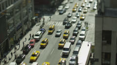 Traffic and commuters on the busy streets of New york Stock Footage