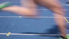 Runners stadium loop Stock Footage