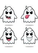 Naughty ghost - set 1 - stock illustration