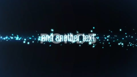 After Effects Project - Pond5 Artistic Energy Wave Glow Particles Text and  ...