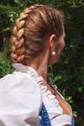 French plait Stock Photos