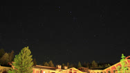Stock Video Footage of Astro Timelapse 33 Mammoth Mts Tilt Up Meteors and Airplanes