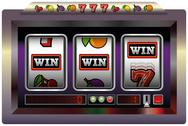 Stock Illustration of Slot Machine Win