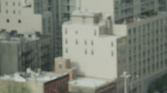 High angle view of apartment buildings in a residential district of New York - stock footage