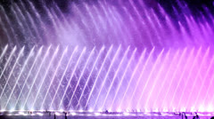 Fountain show Stock Footage