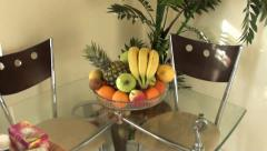 Fruit dish zoom out 2 Stock Footage