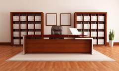 modern office - stock illustration