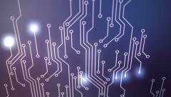 Circuit board. Technology computing CPU motherboard hardware electronics wires Stock Footage